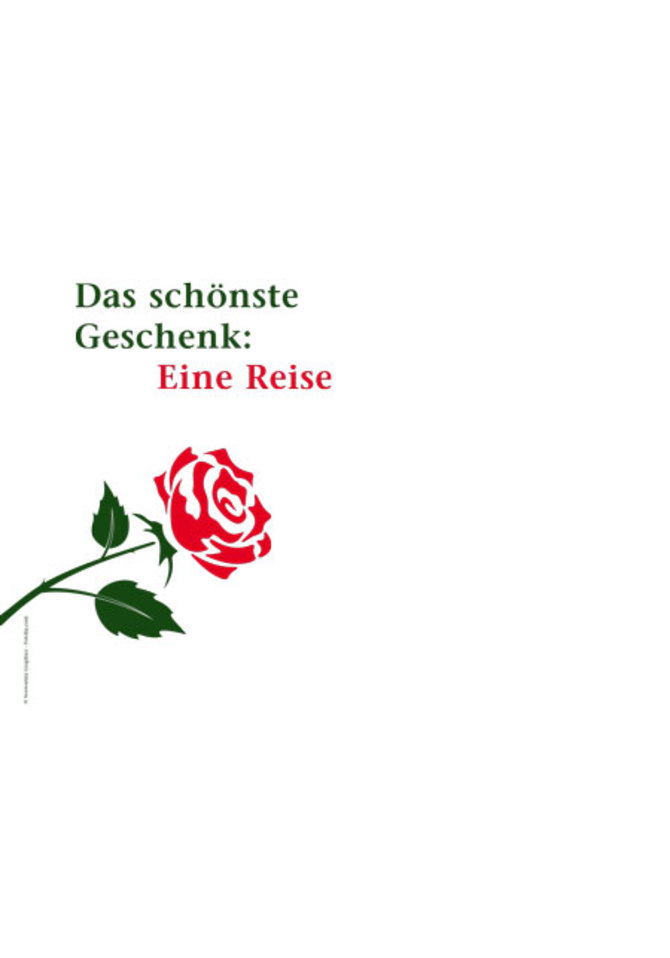 Reisegutschein-Set Rose